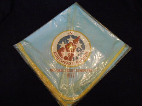 1977 National Jamboree Northeast Region Neckerchief, yellow border