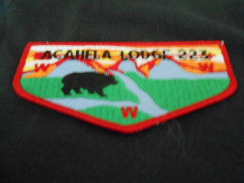 Acahela lodge 223, f5a flap