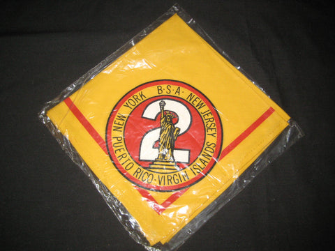 Region 2 Neckerchief 4 state, round logo, white torch