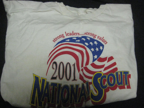 2001 National Jamboree Strong Values Strong Leaders T-Shirt Size Large