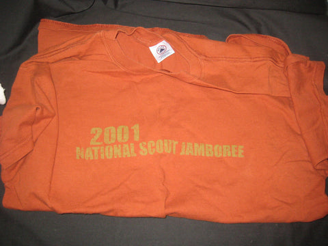 2001 National Jamboree Brown T-shirt, adult large
