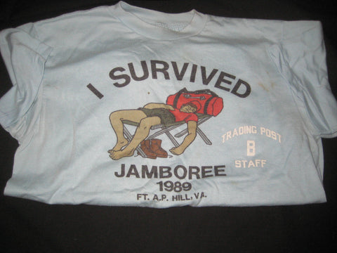 1989 National Jamboree Trading Post B Staff T-shirt