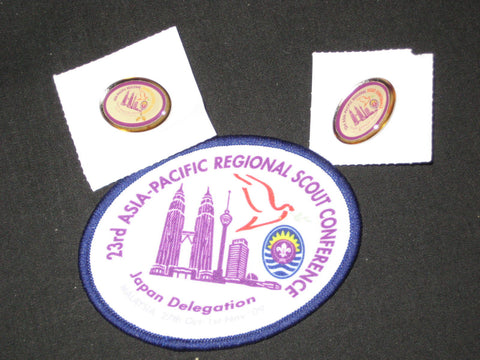 Asia-Pacific 23rd Regional Scout Conference Japan Delegation Patch and Pins