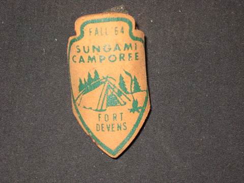 Fort Devens Fall '64 Sungami Camporee Leather Slide
