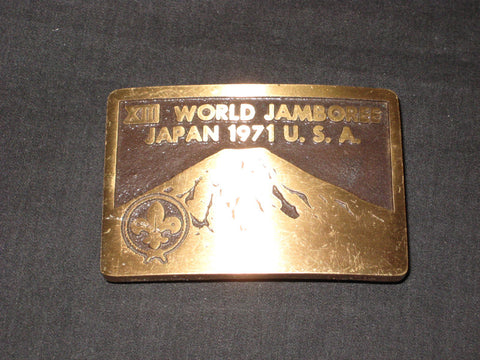 1971 World Jamboree Max Silber Belt Buckle