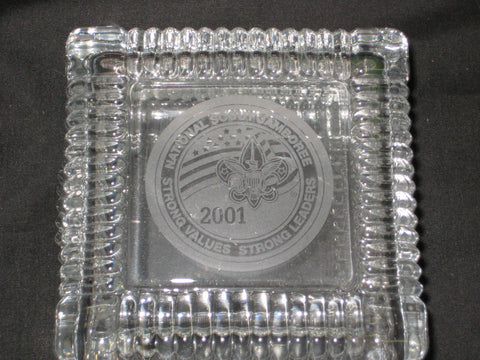 2001 National Jamboree Crystal Candy or Knick Knack Dish