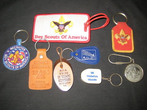 Keychains - National Issue Themes, lot of 8