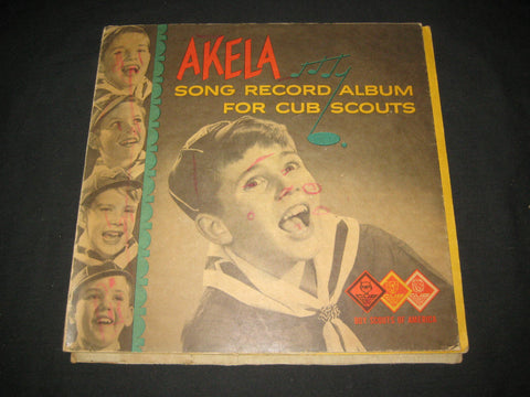 Akela Song Record Album for Cub Scouts 78 RPM