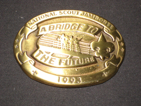 1993 National Jamboree oval Brass Belt Buckle