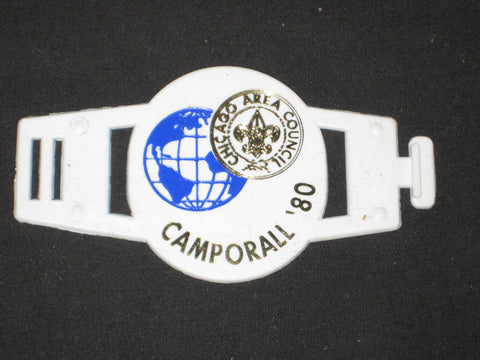 Chicago Area Council Camporall '80 Plastic Slide