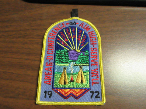 6-D 1972 Conference Pocket Patch