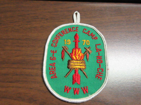 6-E 1970 Conference Pocket Patch