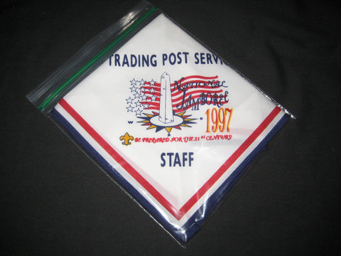 1997 National Jamboree Trading Post Services Staff Neckerchief