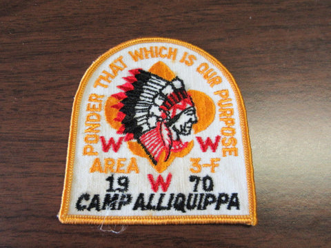 3-f 1970 conclave pocket patch
