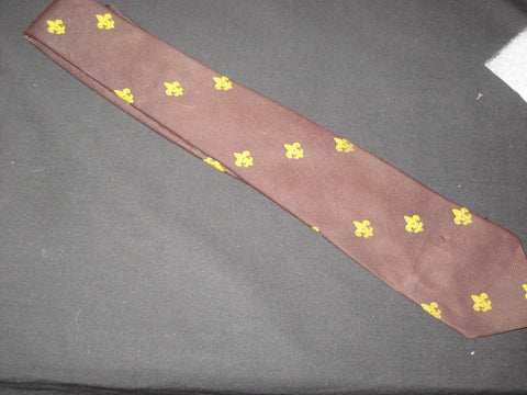 Leader Tie, brown color, 1960-70s