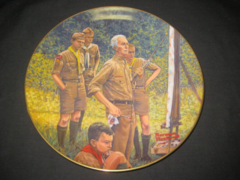 Beyond the Easel, Norman Rockwell Boy Scout Plate