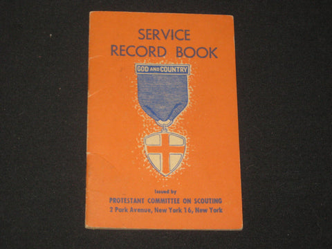 God and Country Award Service Record Book