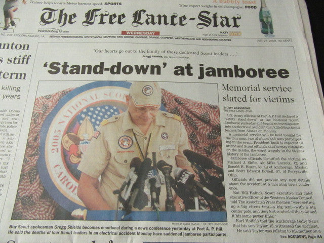 2005 National Jamboree The Free Lance-Star Newspaper Lot | The