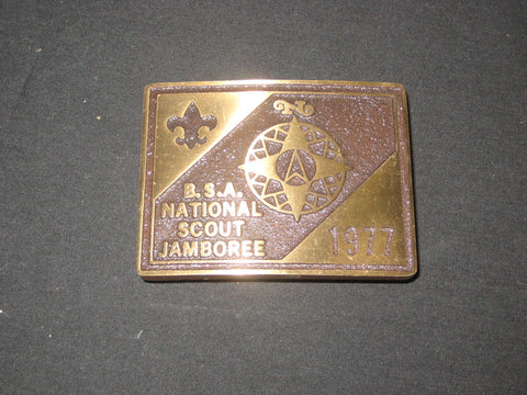 1977 National Jamboree Max Silber Belt Buckle