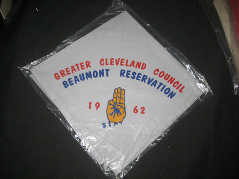 Beaumont Reservation Greater Cleveland Council 1972 Staff Neckerchief
