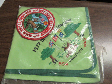 SE-3B 1977 Dixie Fellowship neckerchief and pocket patch