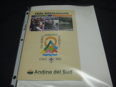 1999 World Jamboree Chile Intensamente Booklet