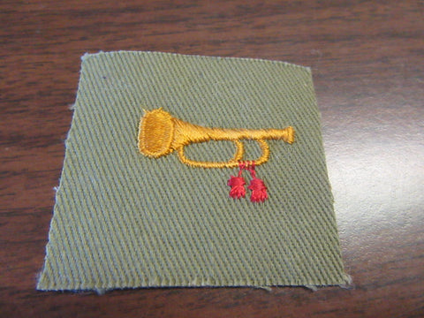 Bugler on Khaki Square Position Patch