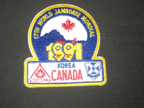 1991 World Jamboree Canadian Contingent Patch