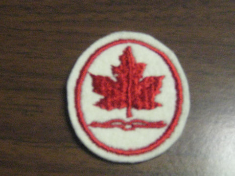 Canada, red Maple Leaf, oval Felt Pocket Patch