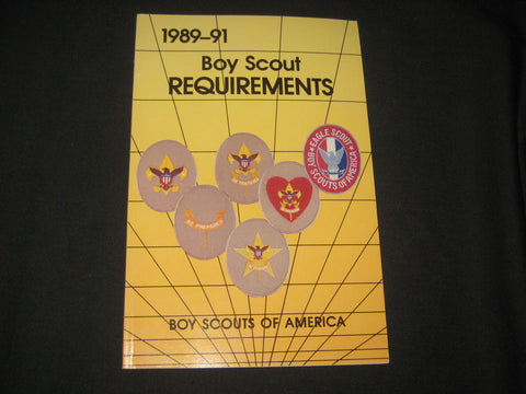 Boy Scout Requirements 1989-91