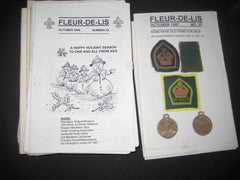 Fleur-de-lis, International Patch Collecting Publication. 1/1989 to October 1997, 35 plus issues