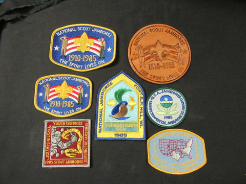 1985 National Jamboree Lot of 7 Patches