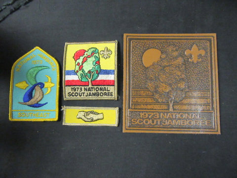 1973 National Jamboree Lot of 4 Patches