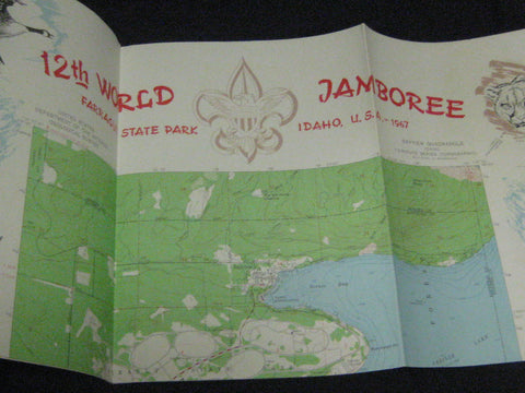 1967 World Jamboree Topgraphical Map
