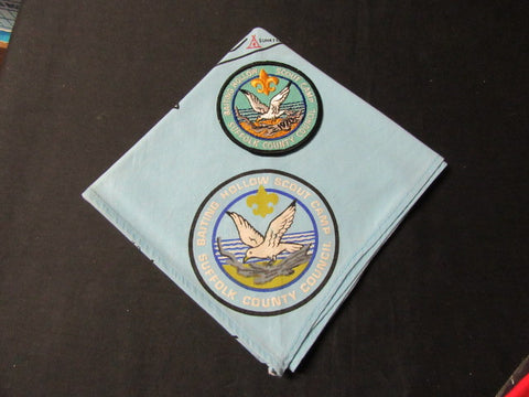 Baiting Hollow Scout Camp light Blue Neckerchief and 1970 Pocket Patch