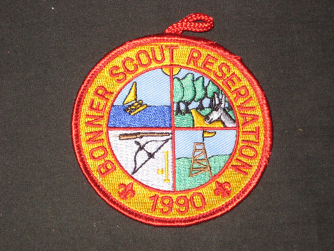 Bonner Scout Reservation 1990 Pocket Patch