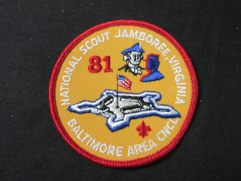 Baltimore Area Council 1981 National Jamboree Round Jamboree Patch