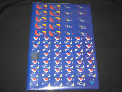 2007 World Jamboree Sheet of Blue Stickons