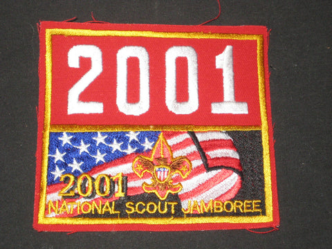 2001 National Jamboree Numeral 2001 Patch