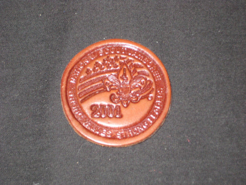 2001 National Jamboree Leather Magnet