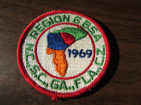 1969 National Jamboree Region 6 Contingent Pocket Patch with Ga.
