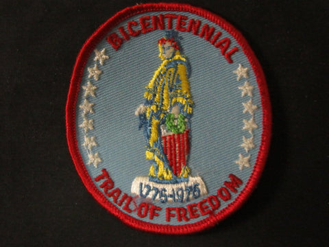 Bicentennial Trail of Freedom First Day Hike Patch, red border