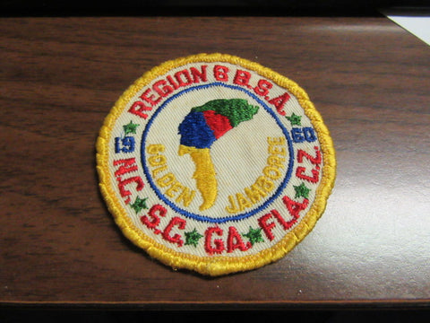 1960 NJ Region 6 Contingent Patch, worn