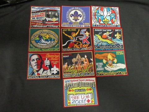 2010 National Jamboree Daily Patch Set
