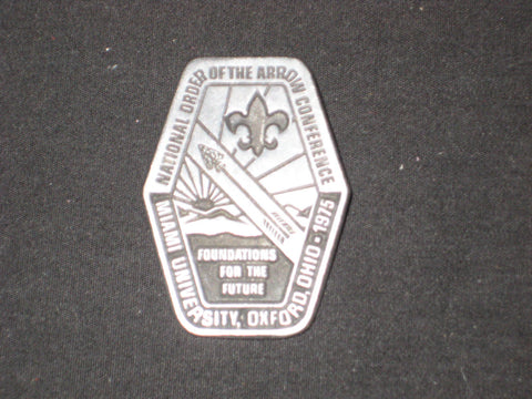 1975 NOAC Pewter Patch Pin