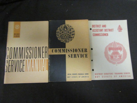 3 Different Commissioner Service Books,  1950-60's