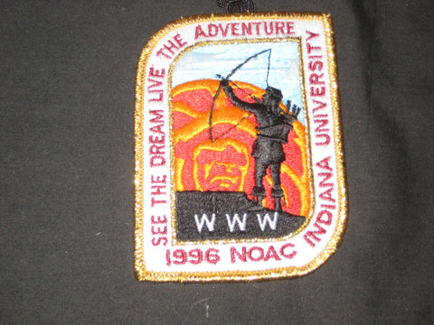 1996 NOAC Gold Mylar Border pocket Patch