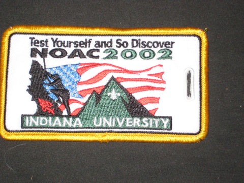 2002 NOAC embriodered luggage tag