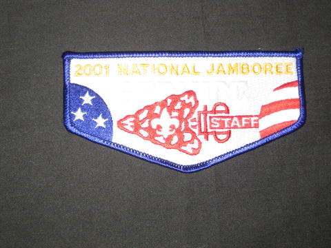 2001 National Jamboree OA Service Staff Flap