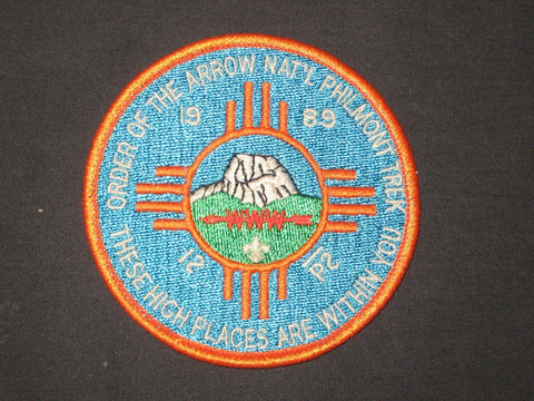 1989 OA Philmont Trek Patch